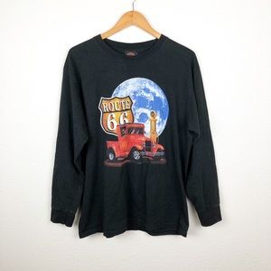 Harley-Davidson Black Route 66 Graphic Long Sleeve